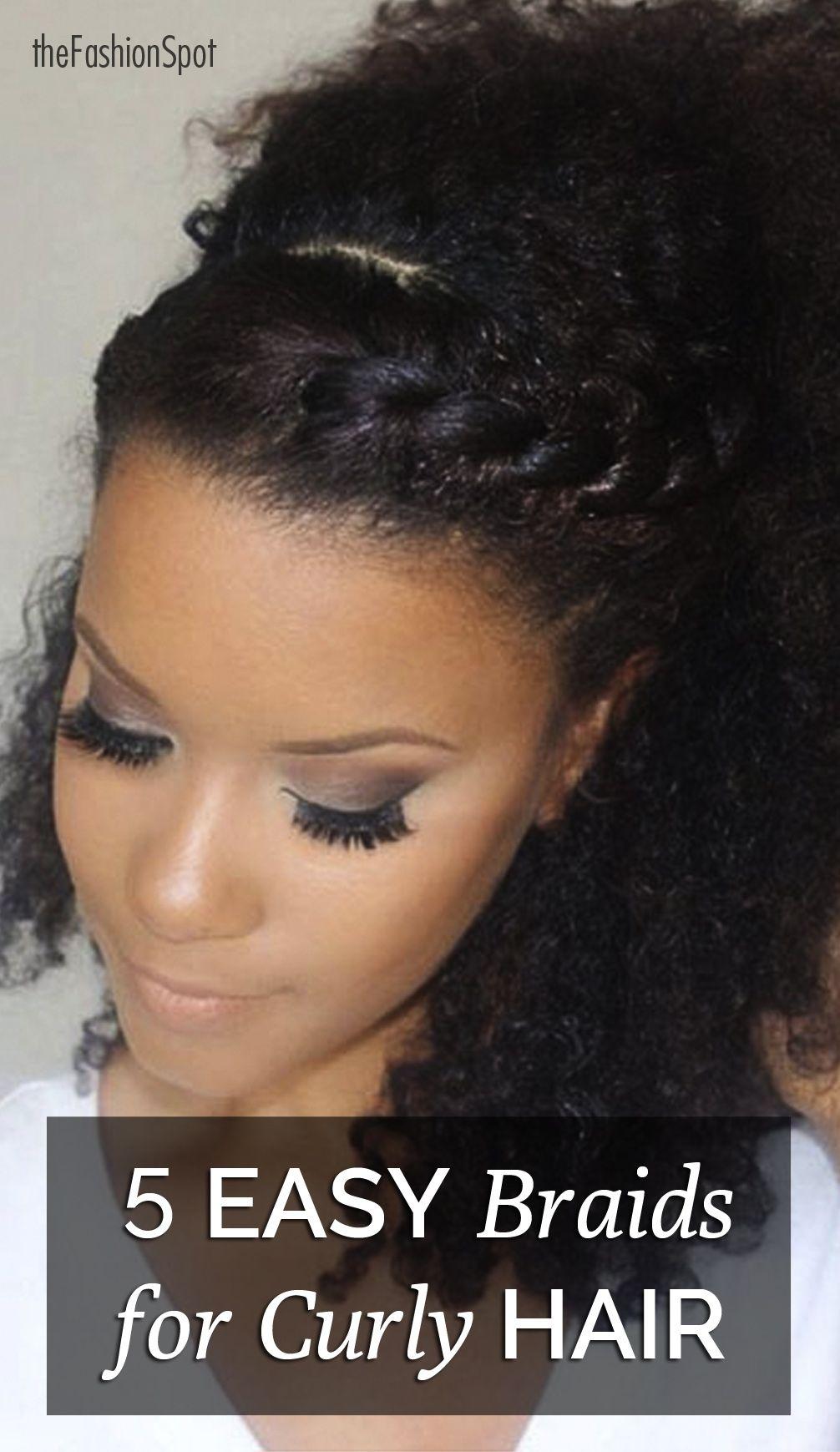 Easy Braids for Curly Hair - the Fashion Spot | // HAIR ...