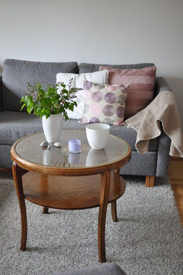 Grau mit etwas rosa | Interieur | Pinterest | Vintage wohnzimmer ...
