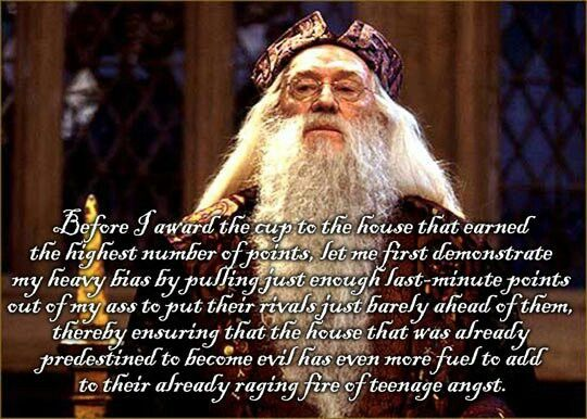 Nice job, Dumbledore