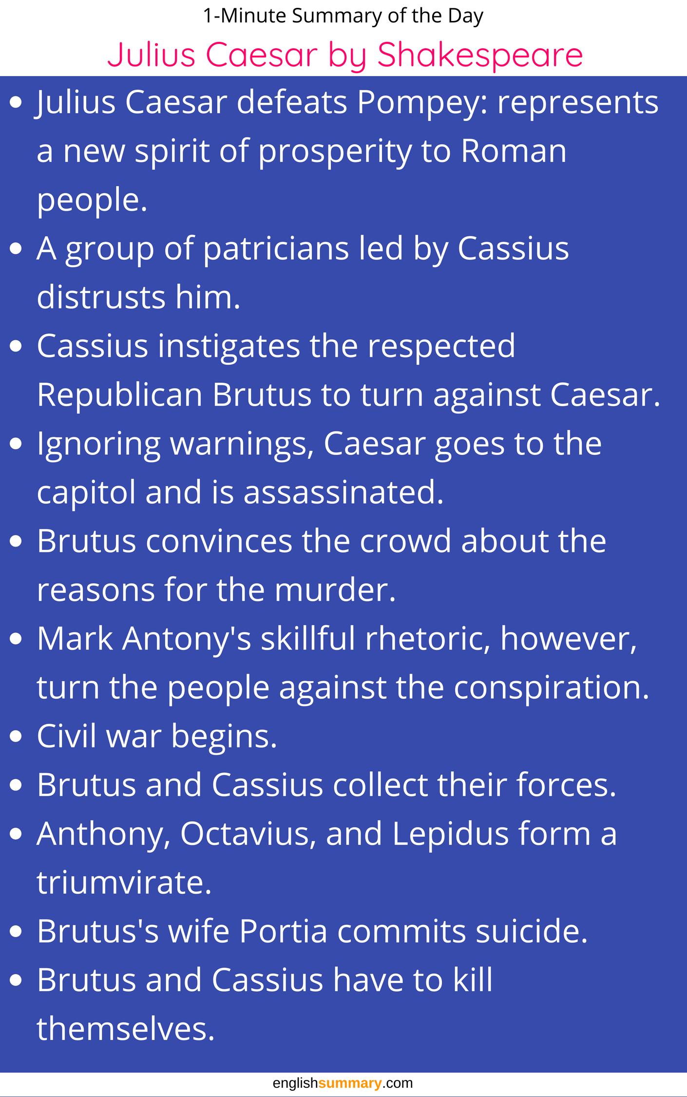 Julius Caesar Short Summary By William Shakespeare