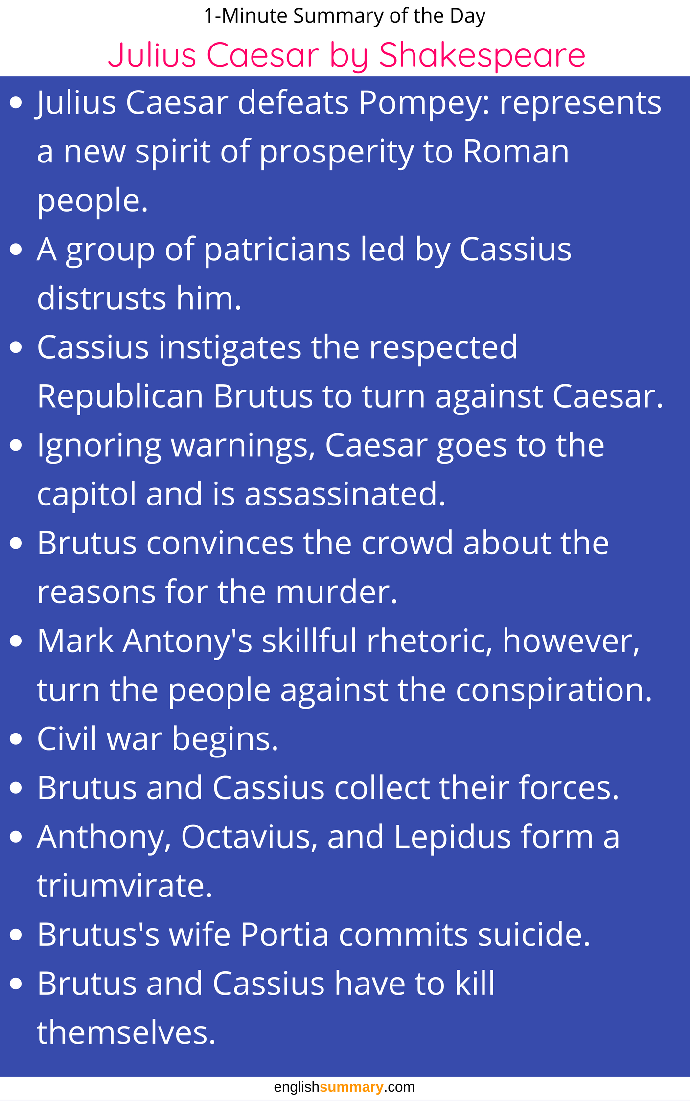 julius caesar short summary