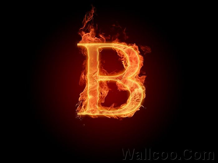 B Letter In Fire Fire Letter B | All Ab...