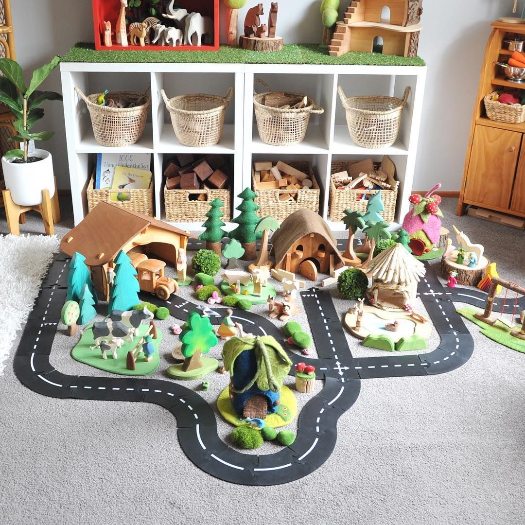The Way To Play Road Is Probably My I Mean My Kids Favourite Thing To Play With At The Moment Today We Girl Nursery Storage Kids Room Kids Playroom