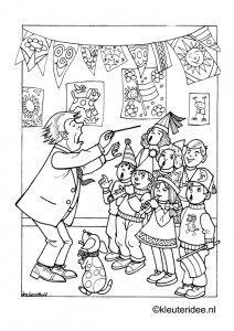 Kinderkoor Kleurplaat Op Kleuteridee Children S Choir