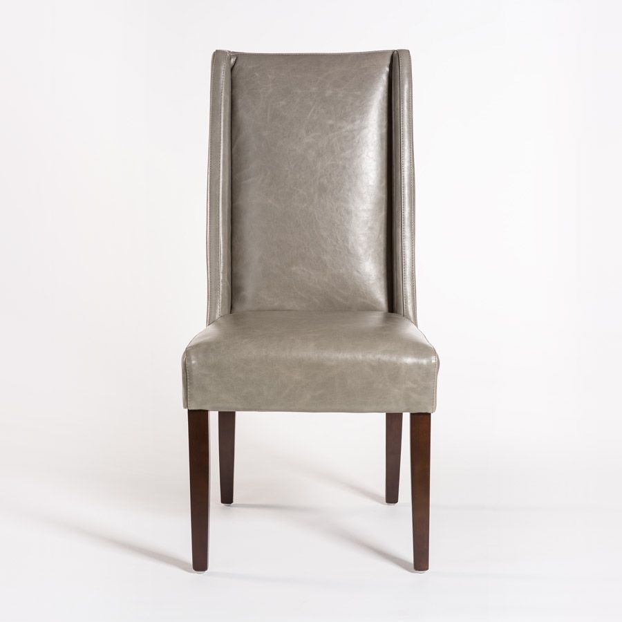 alder-tweed-tribeca-chair-grayleather-front | Chair ...