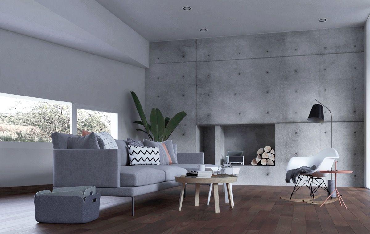40 stilvolle Wohnzimmer, die mit Beton auffallen   Concrete, Living ...
