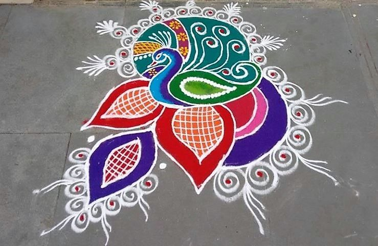 Diwali the Hindu festival of light begins today Get inspired with these striking rangoli designs to start your celebration