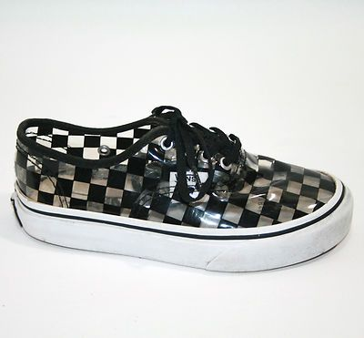 huge discount 559be 3da28 VANS Shoes Boys Clear See Through Vinyl Checker Rare Special Edition My  sweet hubby also surprised