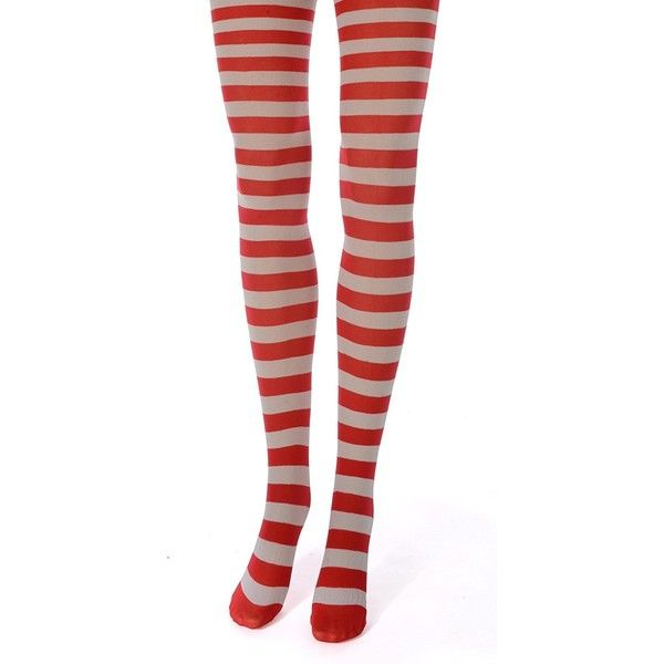 Want Red and white striped pantyhose kind