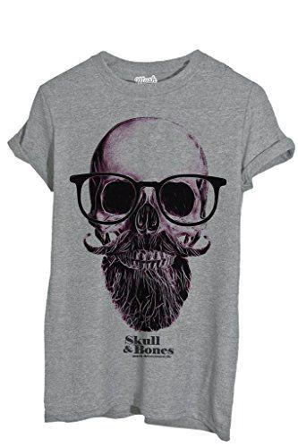 T-Shirt Schädel Nerd Hipster - MUSH by Mush Dress Your Style - Damen ...