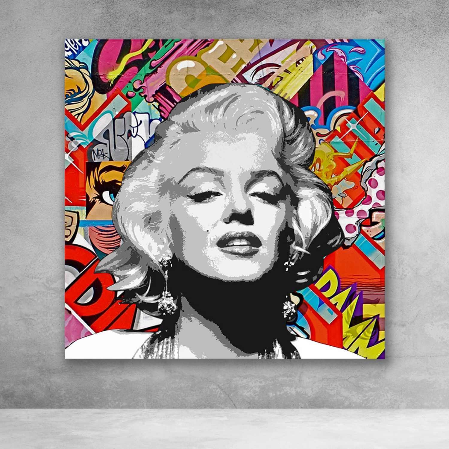 Marilyn Monroe Graffiti Pop Culture Modern Canvas Wall Art In 2021 Modern Wall Art Canvas Pop Art Marilyn Marilyn Monroe Pop Art