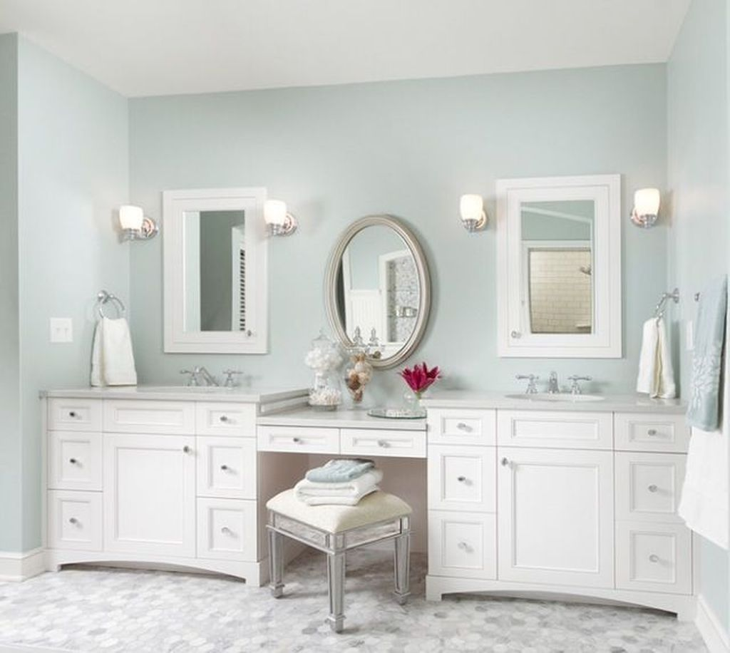 Cool 46 Awesome Bathroom Vanity Mirror Design Ideas More At Https Homyfeed Com 20 Cheap Bathroom Vanities Bathroom With Makeup Vanity Bathroom Vanity Mirror