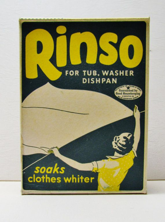 Vintage Laundry Soap Rinso 1930 S Unopened Box Vintage