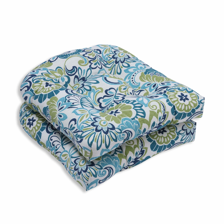 Pillow perfect outdoor indoor zoe mallard wicker seat cushion set