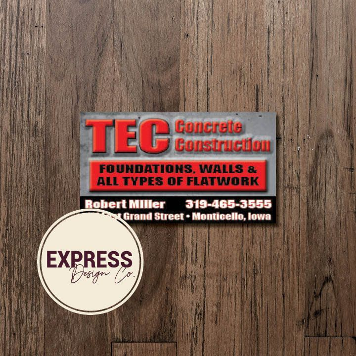 Customized personalized concrete construction business