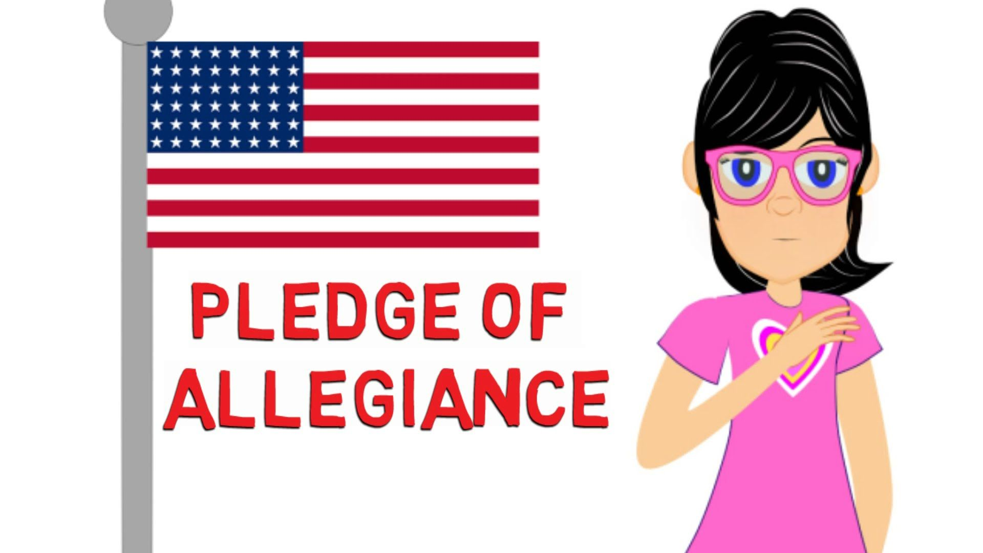 Pledge Of Allegiance Watch A Cartoon For Kids On The