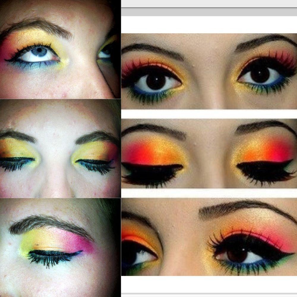 Hawaiian Themed Make Up Attempt Make Up Pinterest Makeup