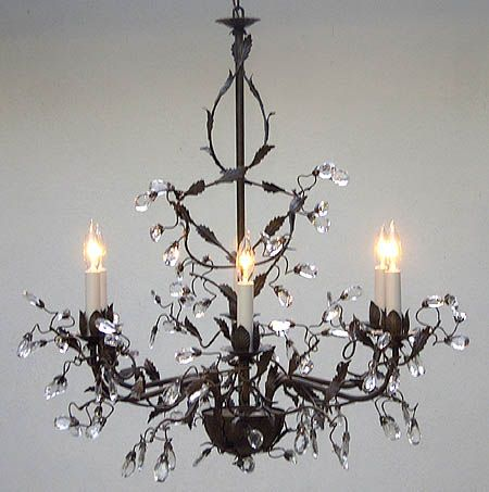 Wrought Iron And Crystal Chandelier Chandeliers Design – Wrought Iron Chandeliers with Crystal
