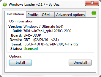windows 7 activator daz not working