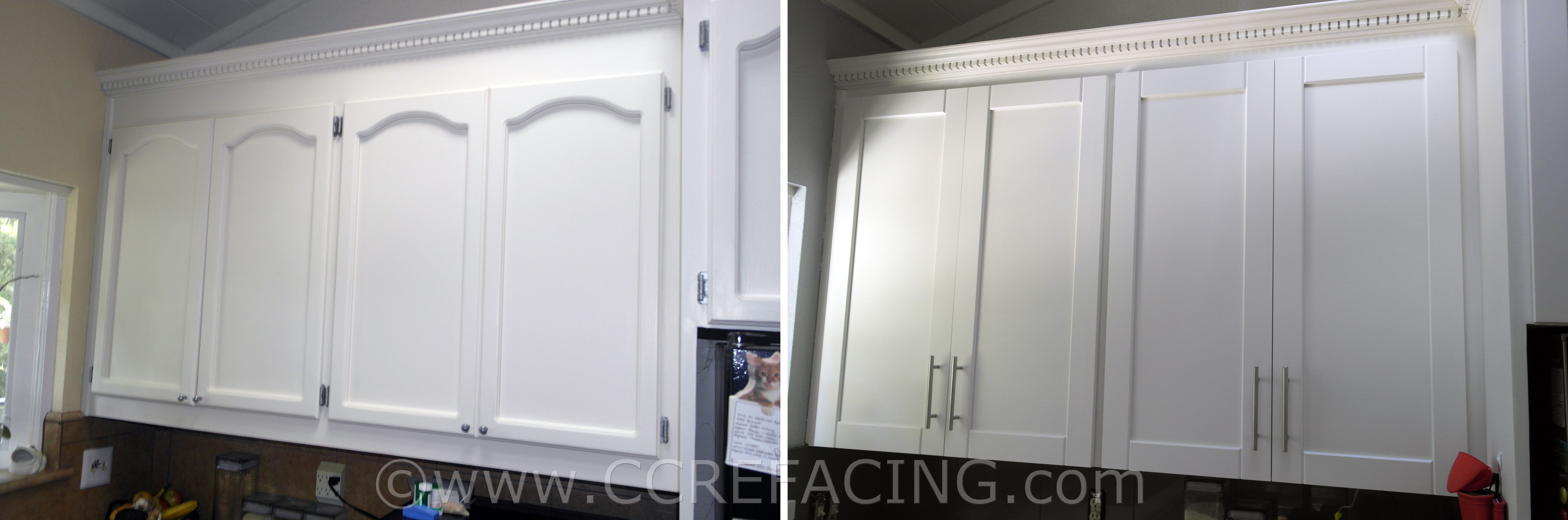 San Leandro reface refacing with White Shaker cabinet doors