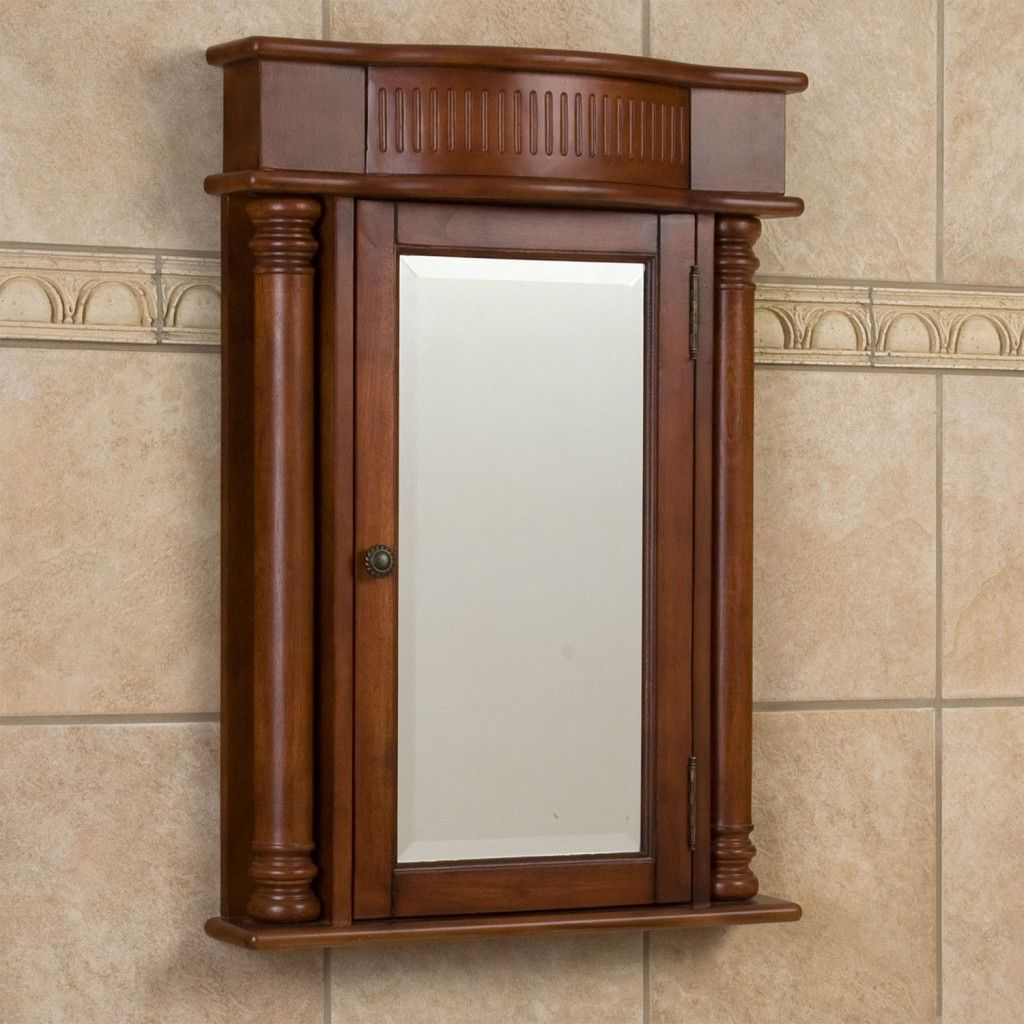 Cherry Wood Medicine Cabinets With Images Wood Wall Bathroom