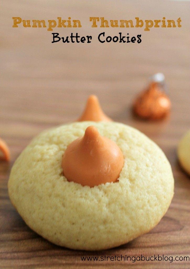 Easy Pumpkin Thumbprint Butter Cookie Recipe
