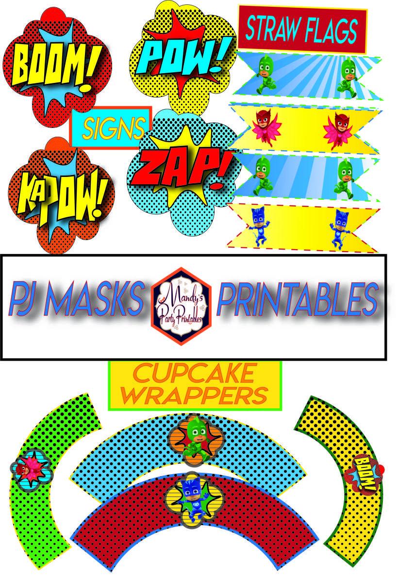 Free Pj Masks Party Printables Pj Mask Party Pj Masks Birthday