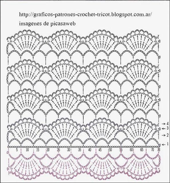 561 Bufanda a Crochet o Ganchillo | crochet | Pinterest | Ganchillo ...