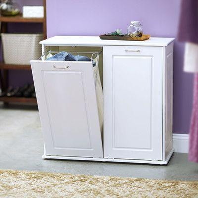 Bon Household Essentials Tilt Out Laundry Sorter Cabinet