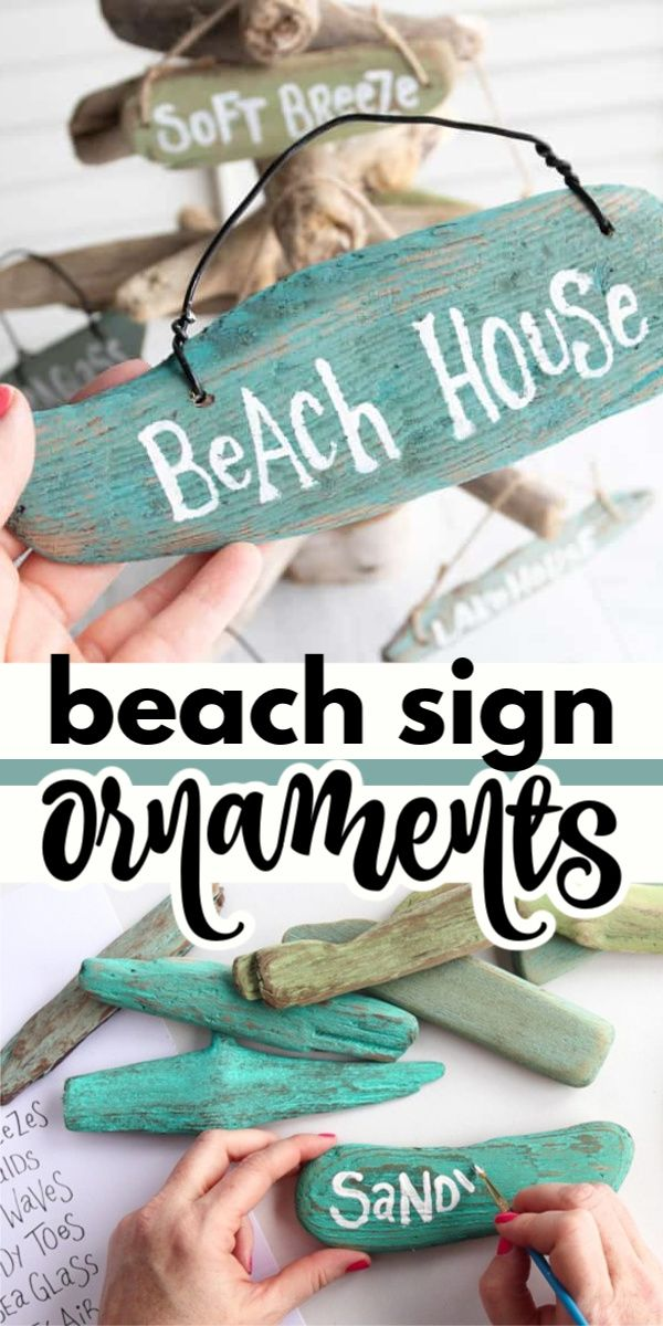 Beach Sign Ornaments #strandhuis