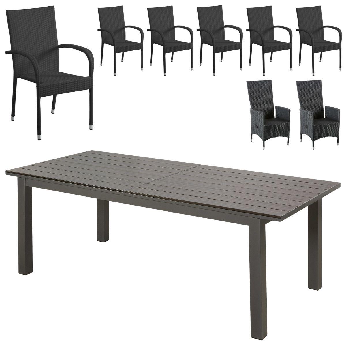 Gartenmöbel Set California/Palermo/Rio Grande (1 Tisch, 6