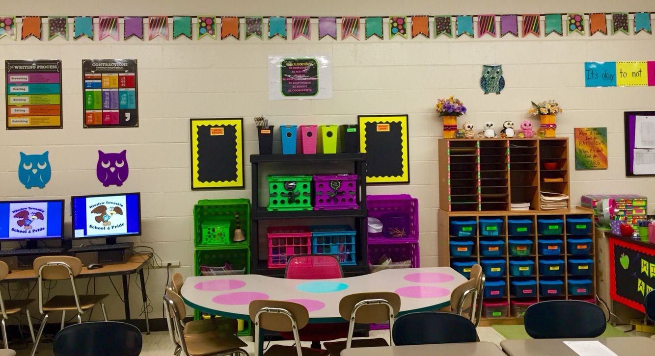 Some Updated Classroom Decor Pictures I Use The Black And Neon