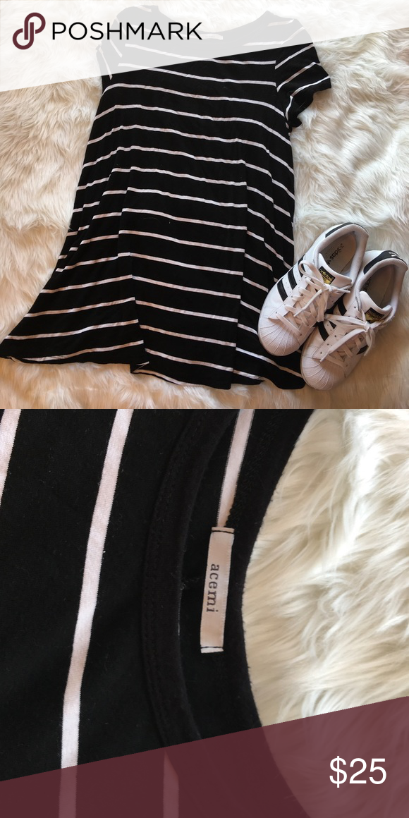 Black and White stripe tshirt dress or shift dress Perfect condition, open to offers, very comfortable fits a XS-S acemi  Dresses