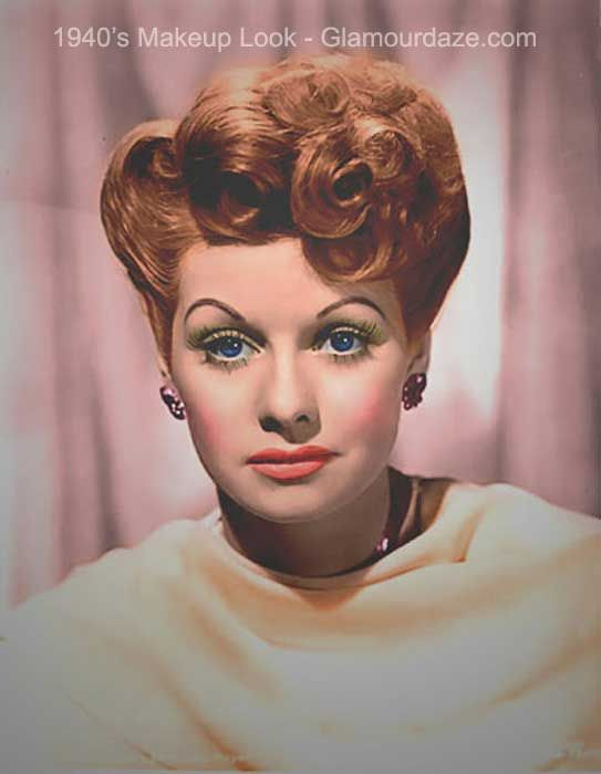 The History Of 1940s Makeup Classic Beauty Pinterest Love Lucy - 1940-makeup