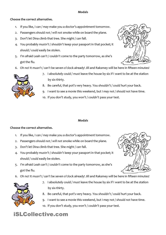 Modals Practice | Modals | Pinterest