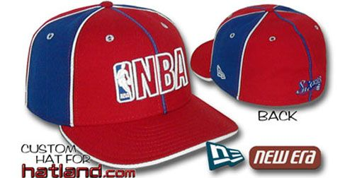 76ers /'SNAP-IT-BACK SNAPBACK/' Red-Royal Hats by New Era