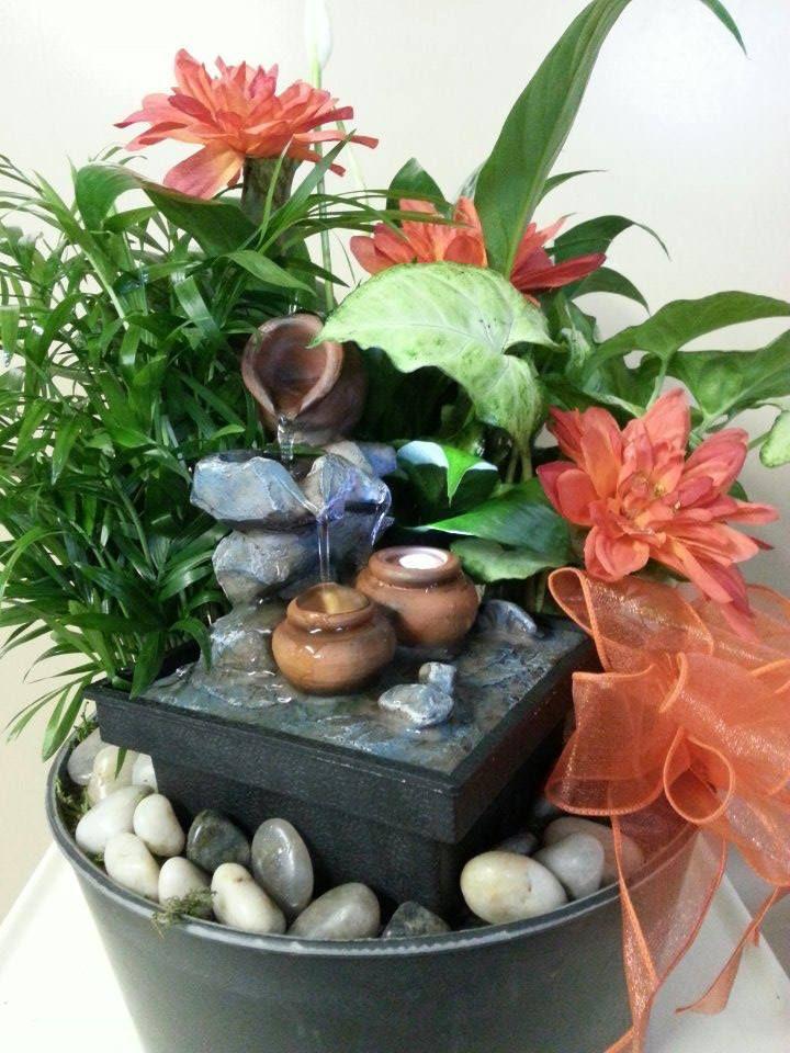 Fountain Dish Gardens Garden Floral Designs Created By Penny's Enchanting Dish Gardens Designs