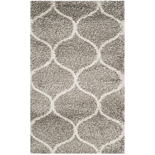 Safavieh Hudson Collection Sgh280b Grey And Ivory Moroccan Ogee Plush Area Rug 2 X