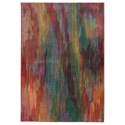 Pantone Universe Prismatic Abstract Red Area Rug Allmodern With
