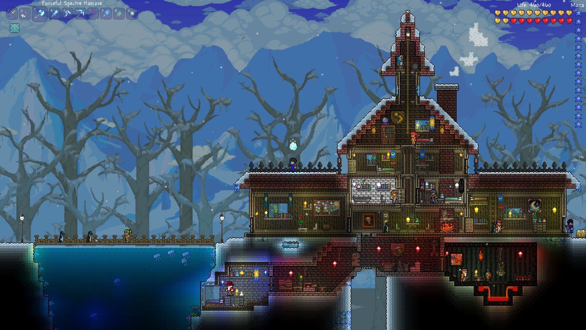 Terraria house designs google search terraria houses for Terraria house designs