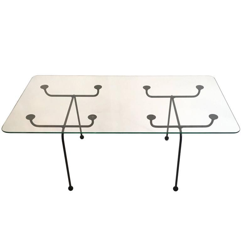 Clement Meadmore Steel Rod and Glass Coffee Table Melbourne, circa 1952  Food Lab