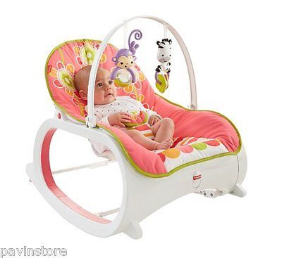 Fisher Price Infant To Toddler Rocker Bouncer Vibrating Comfort Play Seat Floral Newborn Bassinet Baby Rocker Baby Bouncer