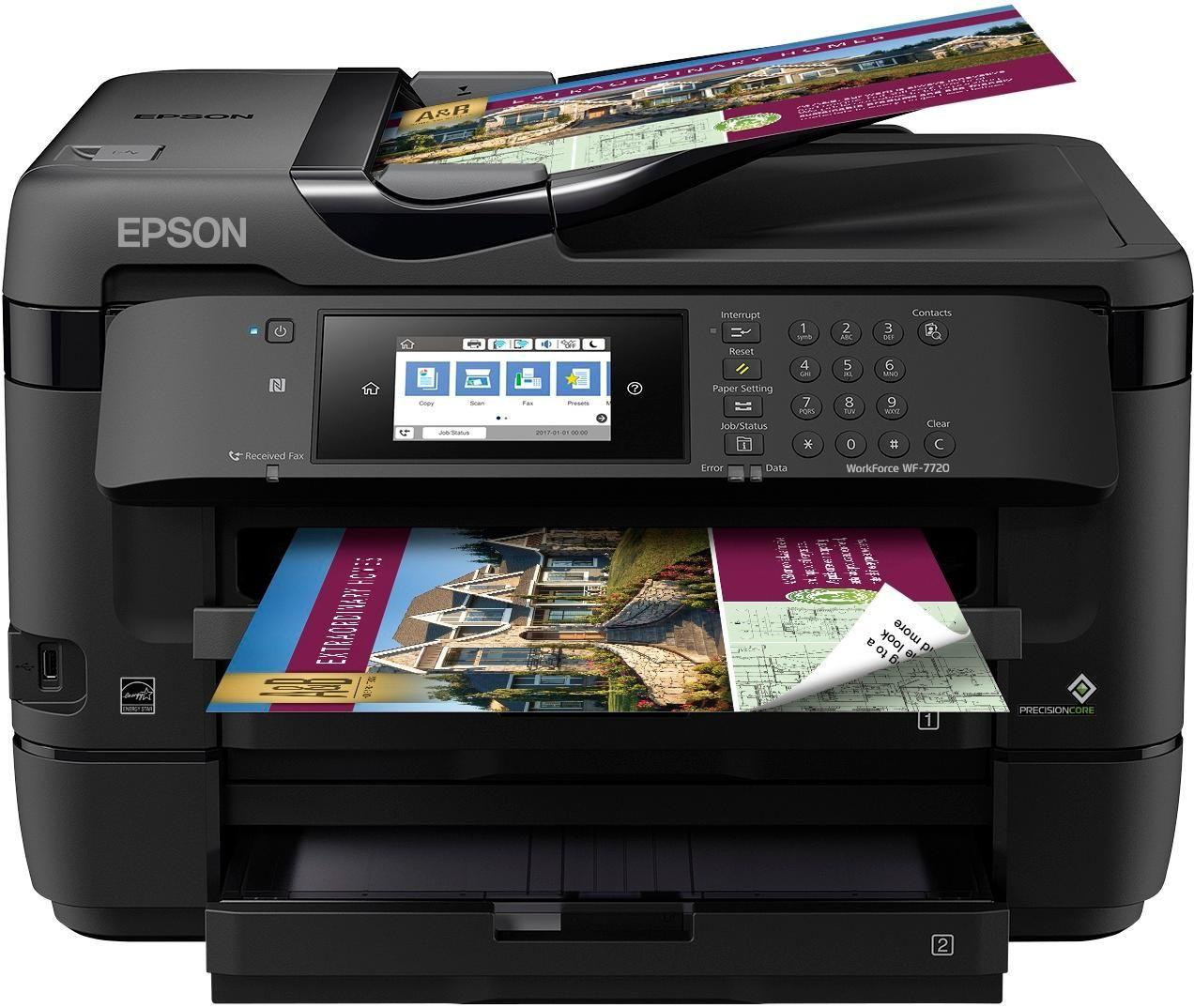 Epson Workforce Wf 7720 Wireless All In One Inkjet Printer Black