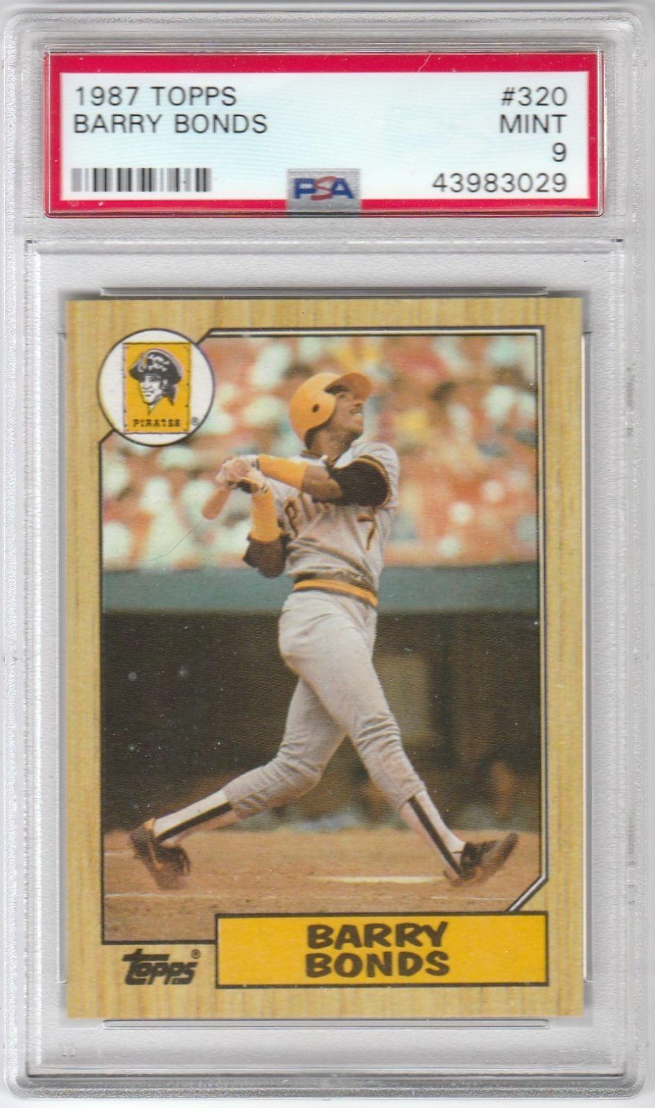 Psa 9 Barry Bonds Rookie 1987 Topps Mercari Barry Bonds Baseball Cards Baseball Cards For Sale