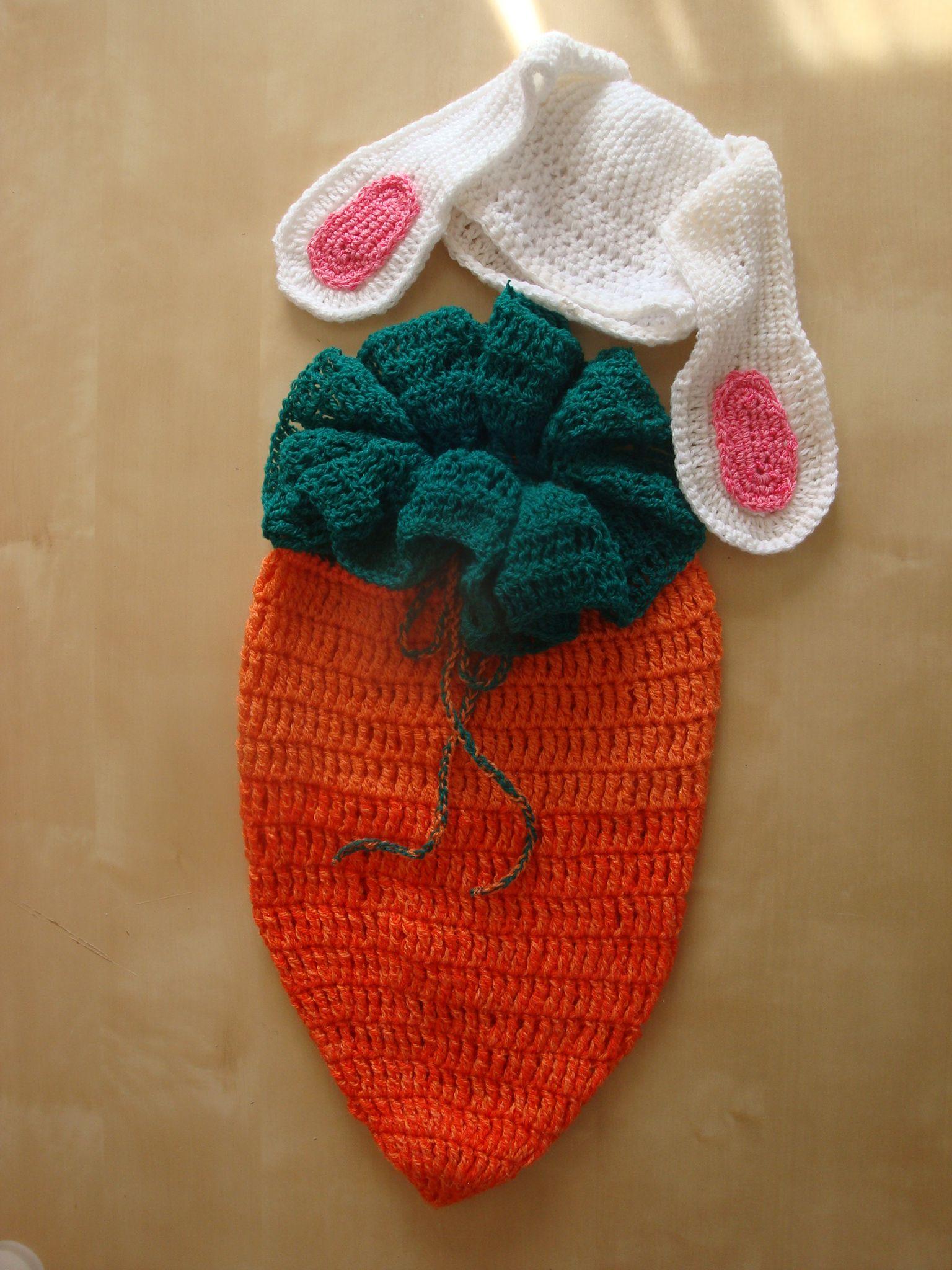 Karottencocoon mit Hasenmütze