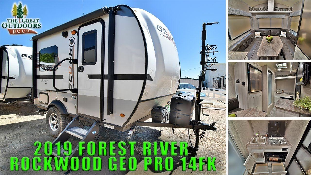 New 2019 Rockwood Geo Pro 14fk Lightweight Travel Trailer Off Road