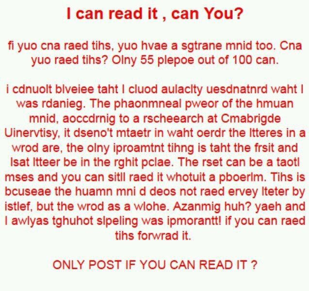 I could read it with a breeze, how about u?