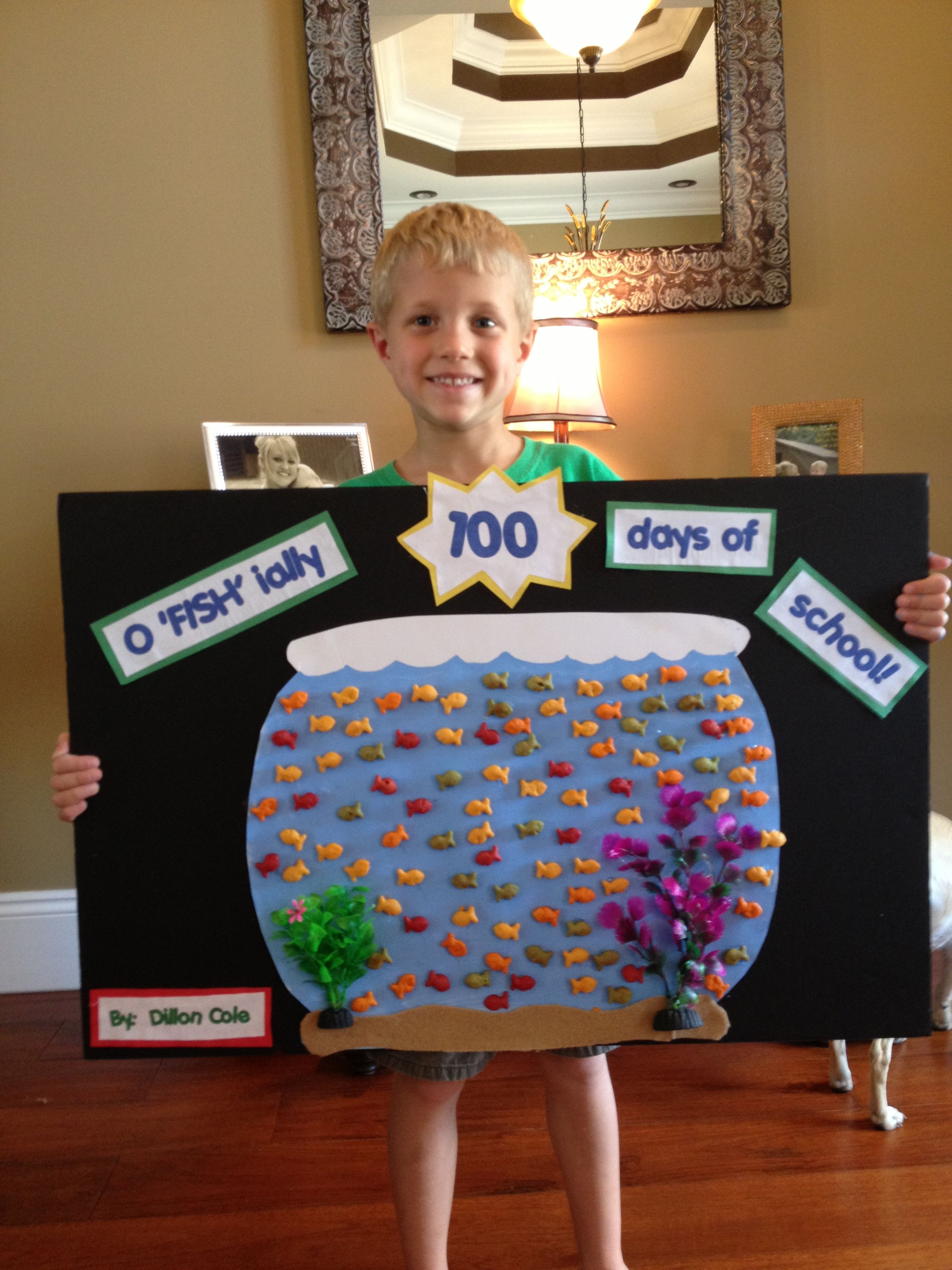 100th Day Of School Goldfish Bowl Project 100th Day Of School