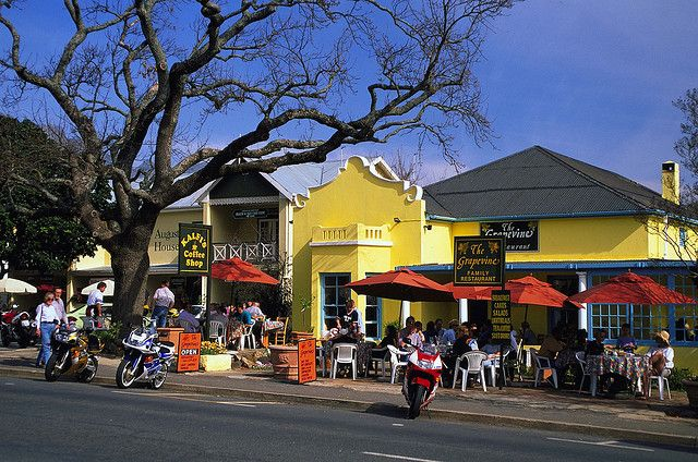 Franschhoek - A fantastic town with some of South Africa's best gourmet experiences, surrounded by beautiful wine farms.