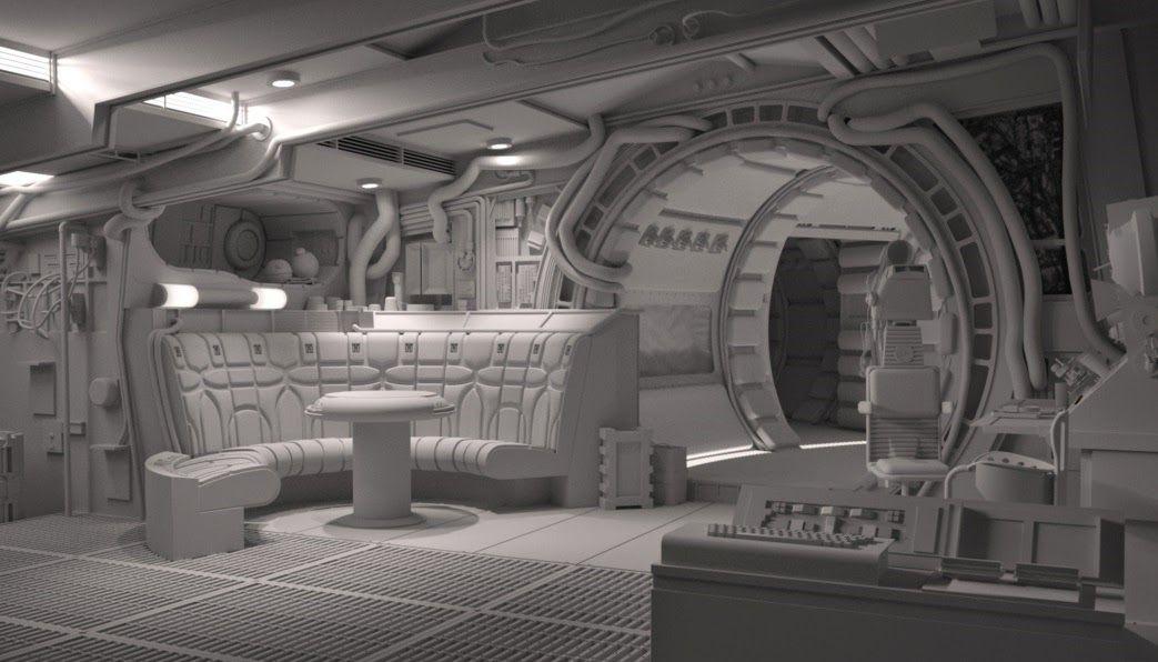 Definitive Anh Falcon Interior Star Wars Design